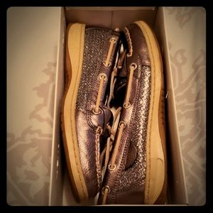 Sperry Angelfish Pewter/Charcoal Glitter